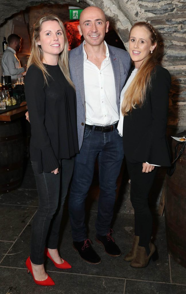 Yvonne O'Meara, Donnagh McClafferty and Claire Dunlop pictured at SuperValu's #WhiskeyExclusives event in The Crypt at Christchurch Cathedral on 11th October 2017. Guests got to enjoy a selection of Premium Irish Whiskey. Pic: Marc O'Sullivan