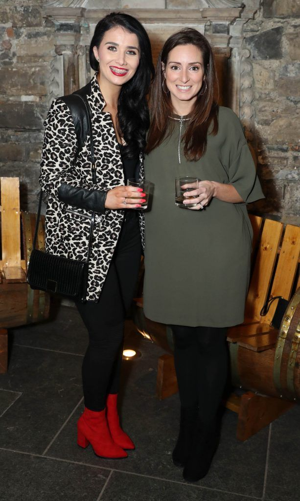 Karen Geary and Fiona Sherman pictured at SuperValu's #WhiskeyExclusives event in The Crypt at Christchurch Cathedral on 11th October 2017. Guests got to enjoy a selection of Premium Irish Whiskey. Pic: Marc O'Sullivan