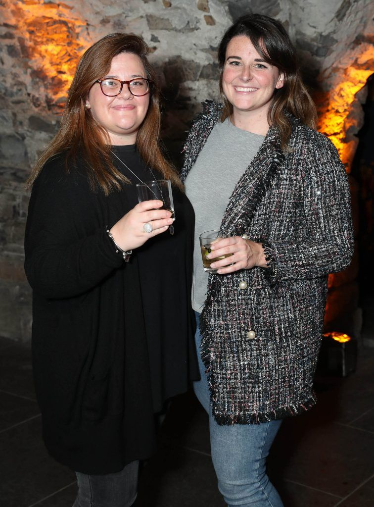 Vivienne Simonato and Caroline Gray pictured at SuperValu's #WhiskeyExclusives event in The Crypt at Christchurch Cathedral on 11th October 2017. Guests got to enjoy a selection of Premium Irish Whiskey. Pic: Marc O'Sullivan