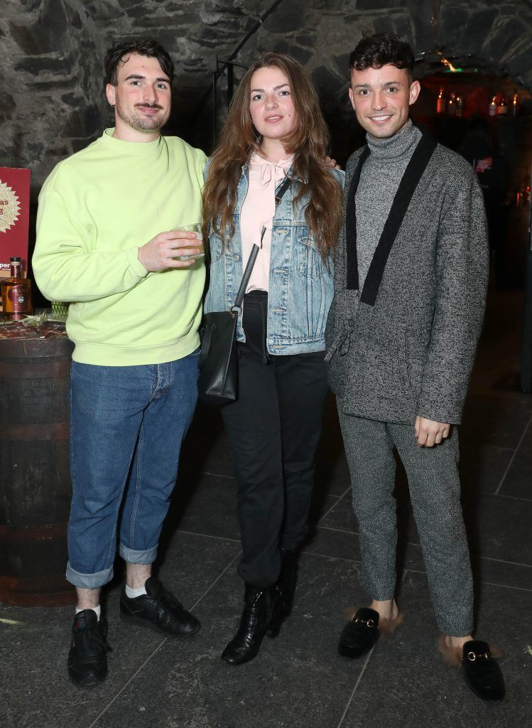 William Murray, Edel Brady and James Kavanagh pictured at SuperValu's #WhiskeyExclusives event in The Crypt at Christchurch Cathedral on 11th October 2017. Guests got to enjoy a selection of Premium Irish Whiskey. Pic: Marc O'Sullivan