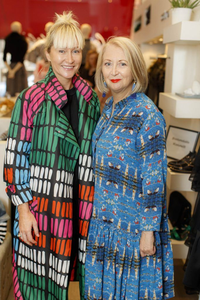 Helen Steele and Bairbre Power pictured at an exclusive breakfast to celebrate Costume's 20th birthday on October 11th 2017. Picture: Andres Poveda