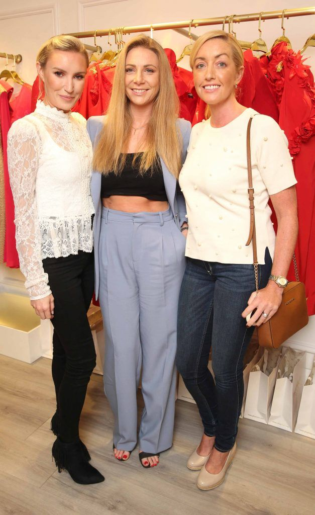 Mel Travers, Jacinta O Sullivan and Aideen Kelly pictured at the official opening of the Phoenix-V boutique located on 39 Stephen Street Lower Dublin. Photo: Leon Farrell/Photocall Ireland.