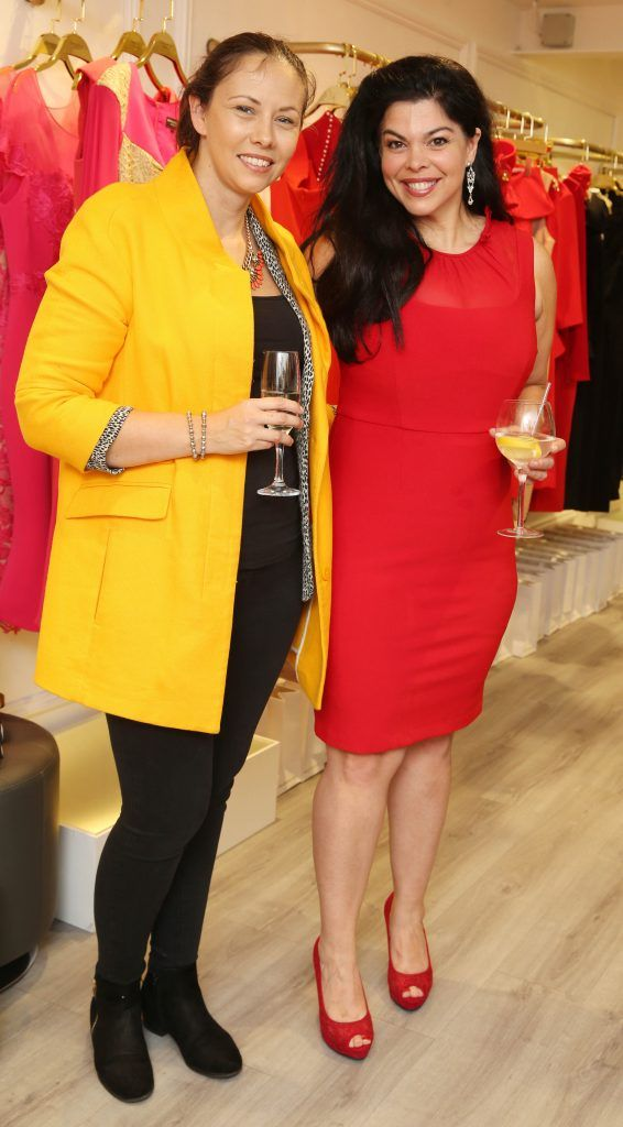 Wendy Stunt and Elle Linklater pictured at the official opening of the Phoenix-V boutique located on 39 Stephen Street Lower Dublin. Photo: Leon Farrell/Photocall Ireland.