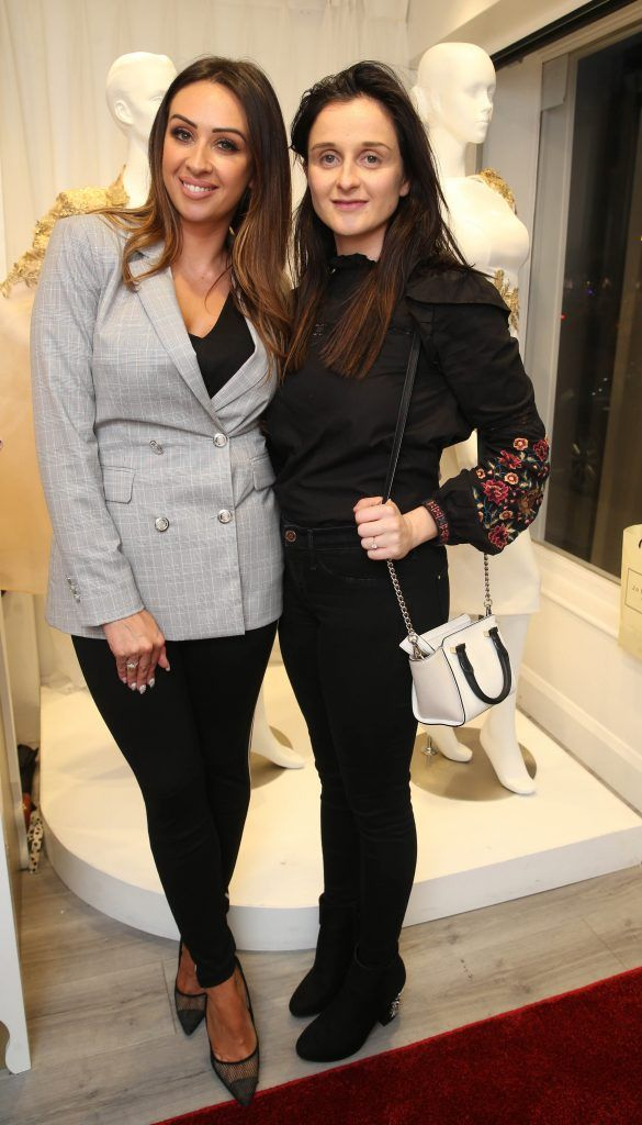 Michelle Ragazzali and Paula Stone pictured at the official opening of the Phoenix-V boutique located on 39 Stephen Street Lower Dublin. Photo: Leon Farrell/Photocall Ireland.