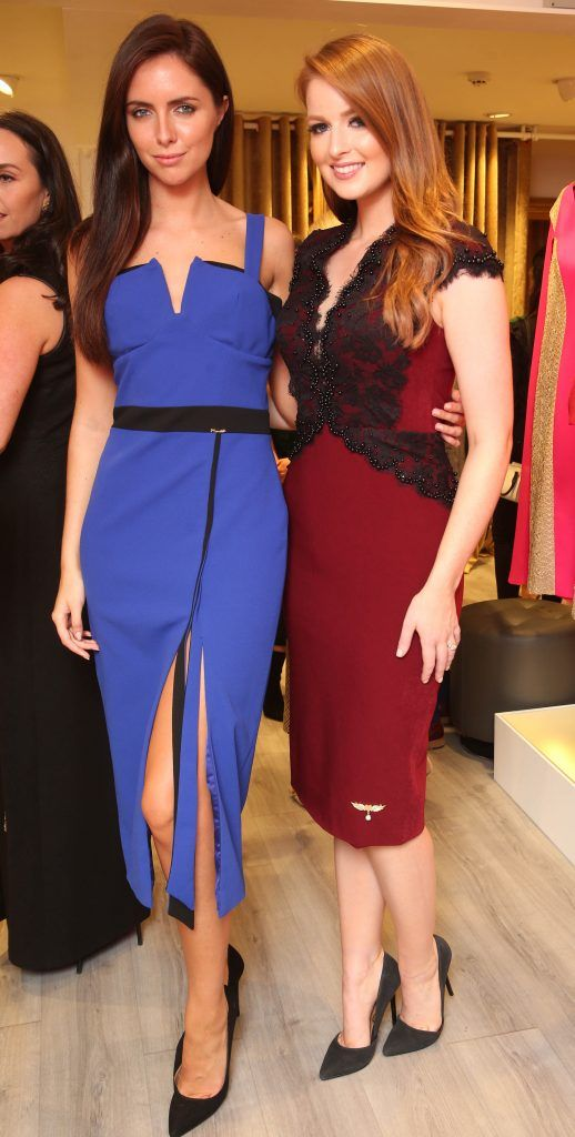 Lisa Kavanagh and Jessica Hayes pictured at the official opening of the Phoenix-V boutique located on 39 Stephen Street Lower Dublin. Photo: Leon Farrell/Photocall Ireland.