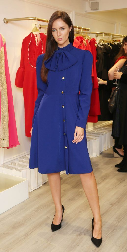 Jessica Hayes pictured at the official opening of the Phoenix-V boutique located on 39 Stephen Street Lower Dublin. Photo: Leon Farrell/Photocall Ireland.