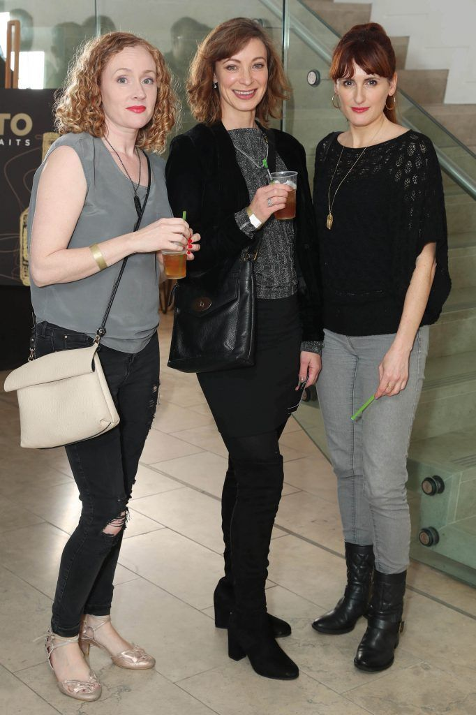 Sinead McKenna, Elaine Chapman and Miriam Devitt at the RHA's Hennessy Lost Friday's final installment of 2017 on October 21st. Pic: Marc O'Sullivan