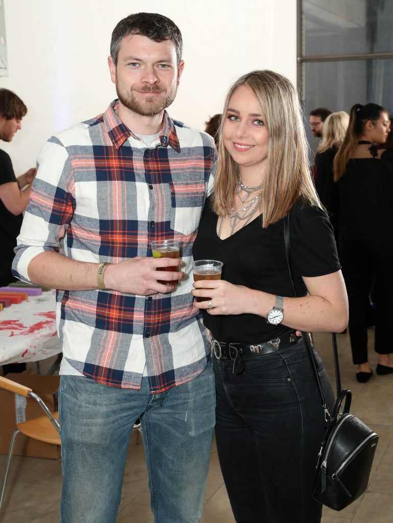 Daniel Leddy and Aisling Walsh at the RHA's Hennessy Lost Friday's final installment of 2017 on October 21st. Pic: Marc O'Sullivan
