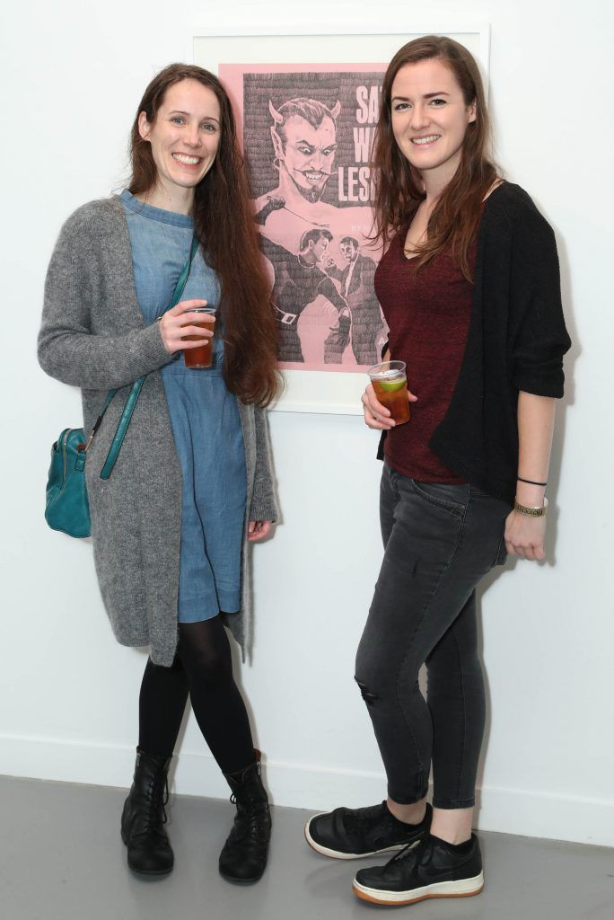 Sabrina Crotty and Maeve Logan at the RHA's Hennessy Lost Friday's final installment of 2017 on October 21st. Pic: Marc O'Sullivan