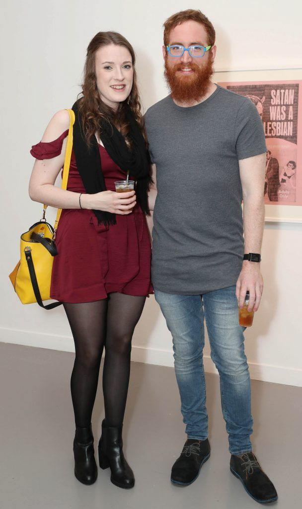 Roisin O'Flaherty and Dave Bennett at the RHA's Hennessy Lost Friday's final installment of 2017 on October 21st. Pic: Marc O'Sullivan