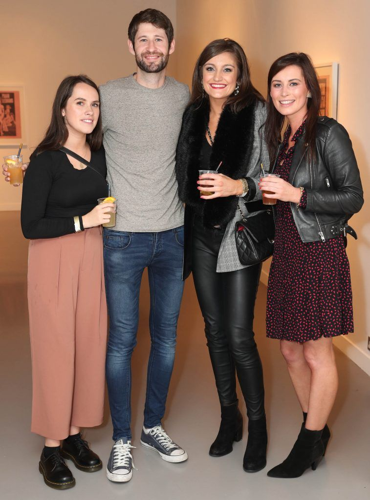 Eilidh Brosnahan, David Wilson, Helen Flynn and Aisling Curtin at the RHA's Hennessy Lost Friday's final installment of 2017 on October 21st. Pic: Marc O'Sullivan