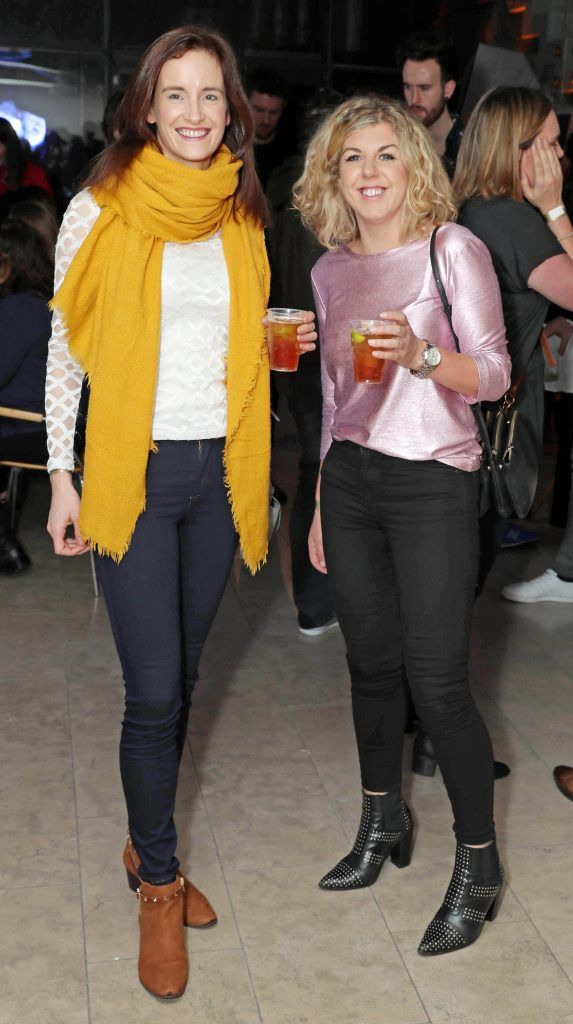 Laoise Keogh and Feena Kirrkammat the RHA's Hennessy Lost Friday's final installment of 2017 on October 21st. Pic: Marc O'Sullivan
