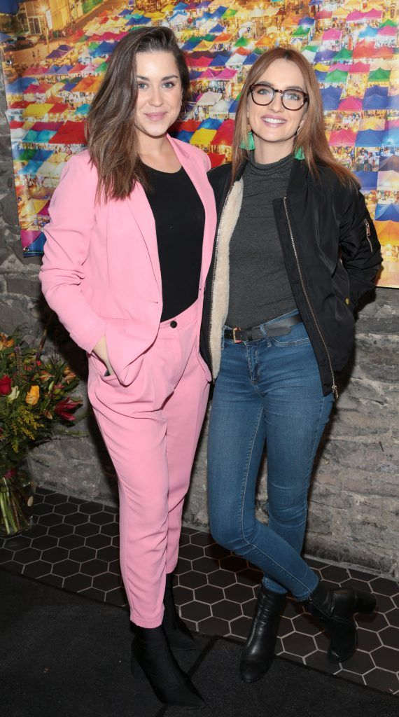 Jo Linehan and Caroline Foran at the launch of the new first floor of Nightmarket Thai Restaurant, Ranelagh. Photo: Brian McEvoy