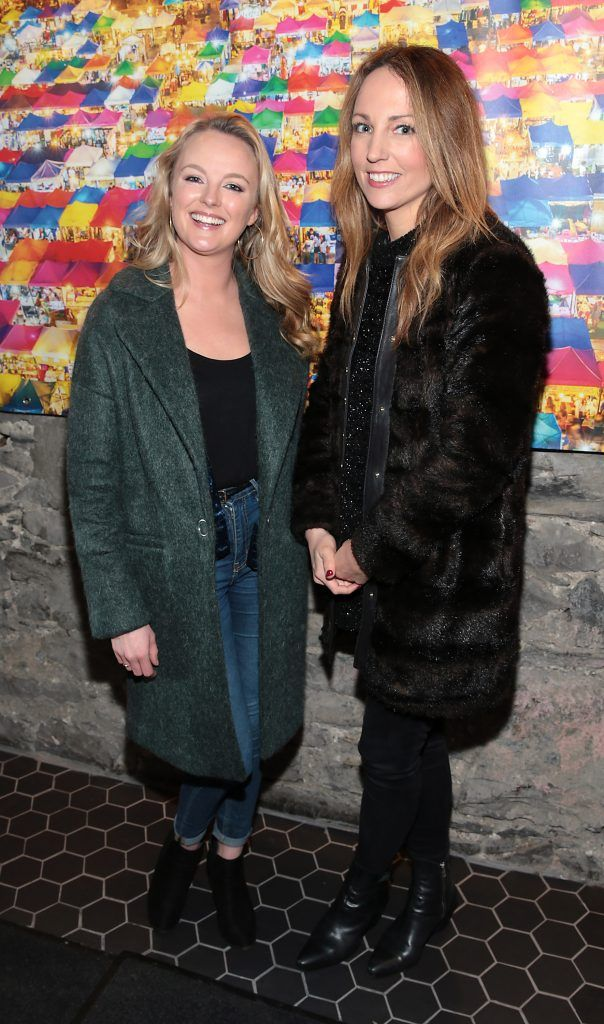 Laura Bury and Nikki Lannen at the launch of the new first floor of Nightmarket Thai Restaurant, Ranelagh. Photo: Brian McEvoy
