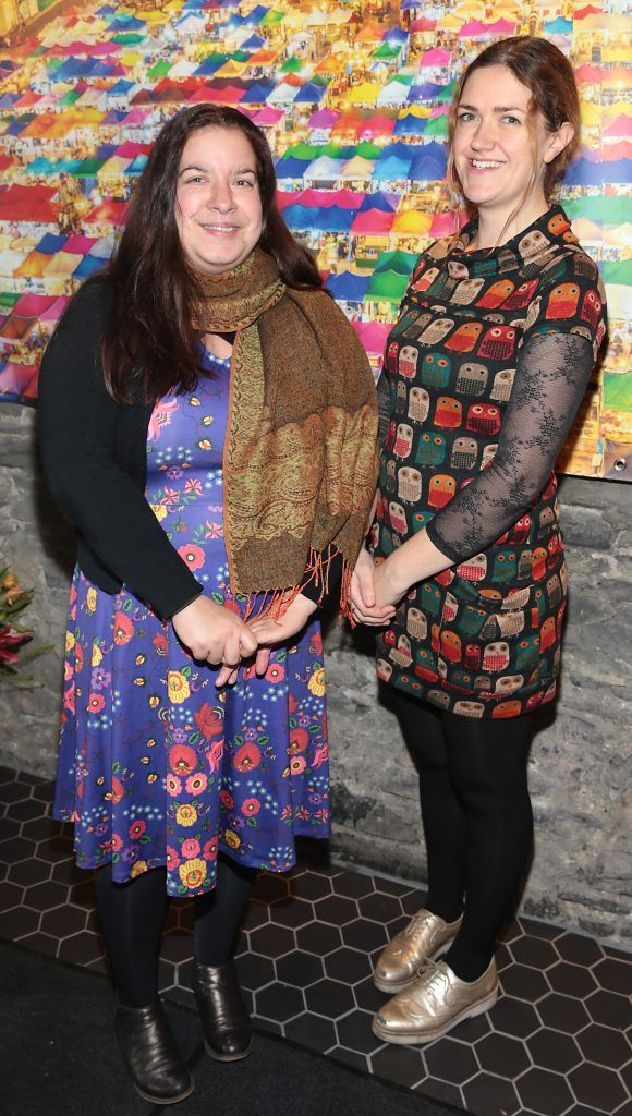 Katia Valadeau and Fionnuala Dorney at the launch of the new first floor of Nightmarket Thai Restaurant, Ranelagh. Photo: Brian McEvoy
