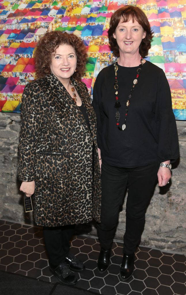 Phyl Clarke and Marie Claire Digby at the launch of the new first floor of Nightmarket Thai Restaurant, Ranelagh. Photo: Brian McEvoy