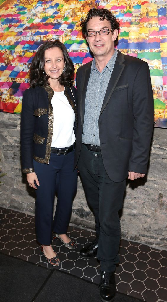 Clodagh Murphy and Andrew Bradley at the launch of the new first floor of Nightmarket Thai Restaurant, Ranelagh. Photo: Brian McEvoy