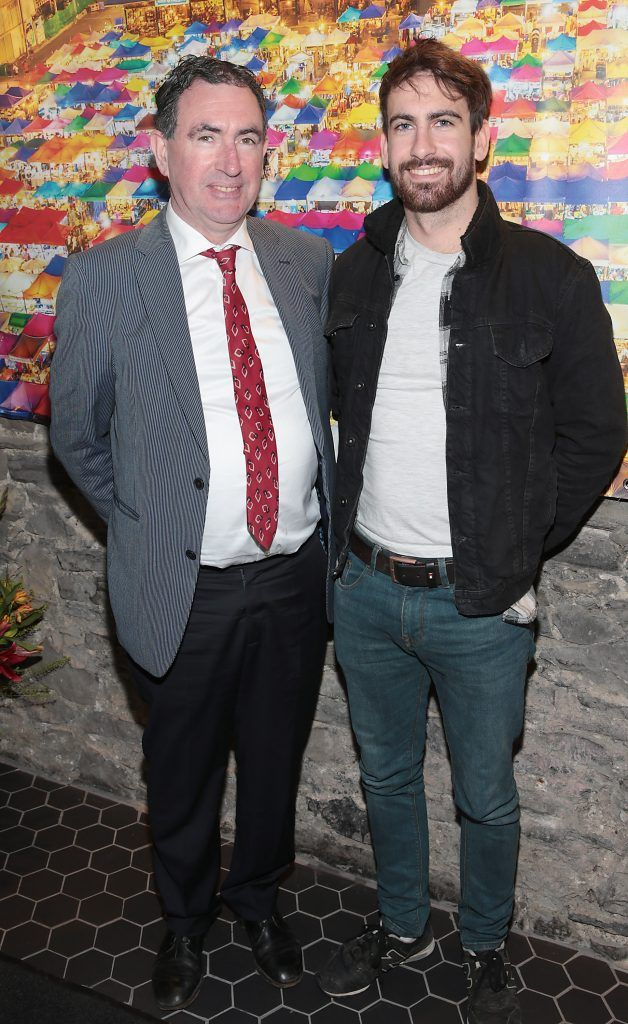 Donnie Hannon and Oisin Hannon at the launch of the new first floor of Nightmarket Thai Restaurant, Ranelagh. Photo: Brian McEvoy