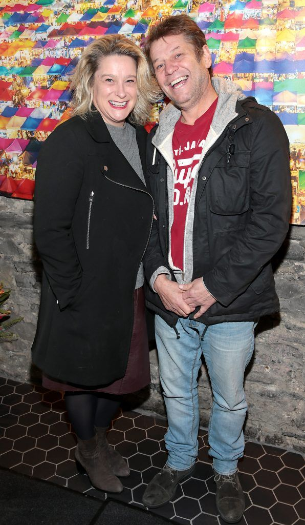 Aileen Galvin and Mick O Neill at the launch of the new first floor of Nightmarket Thai Restaurant, Ranelagh. Photo: Brian McEvoy