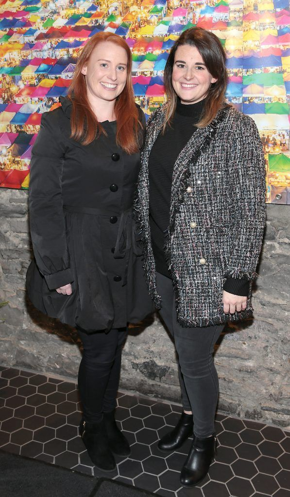 Deirdre Chambers and Caroline Gray at the launch of the new first floor of Nightmarket Thai Restaurant, Ranelagh. Photo: Brian McEvoy