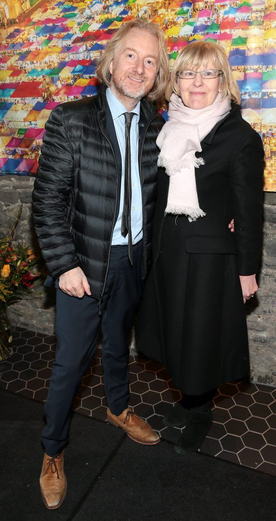 Barry Egan and Mary O Sullivan at the launch of the new first floor of Nightmarket Thai Restaurant, Ranelagh. Photo: Brian McEvoy