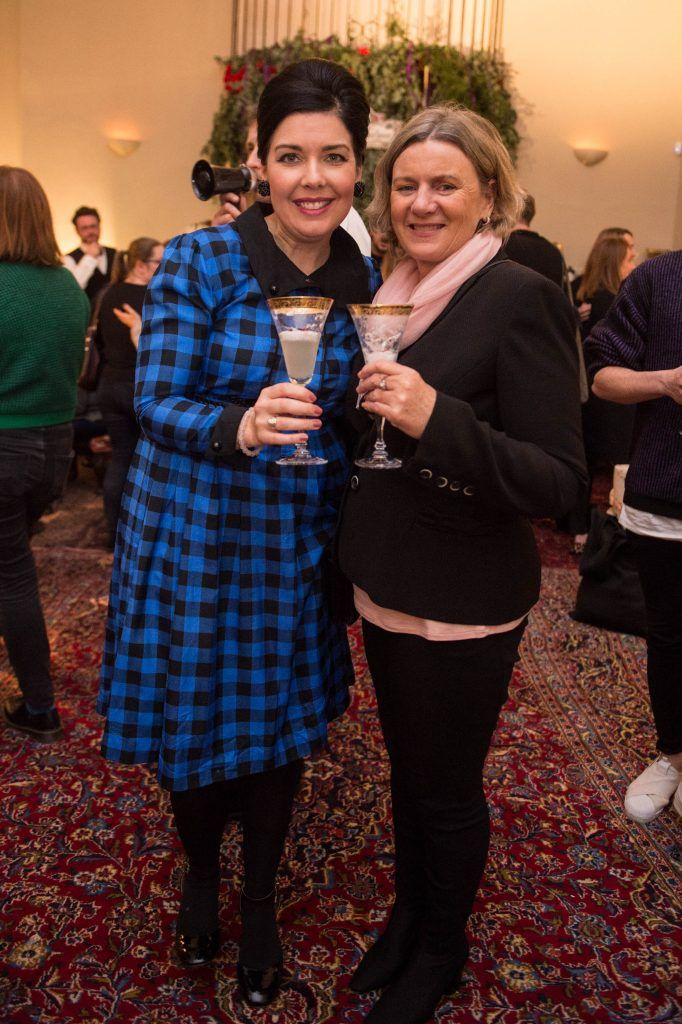 Sharon Hearnne Smith & Gabrielle Butler at the exclusive launch of Hendrick's 'The Illustrious Manor of Eminence' at Tailor's Hall, Back Lane, Dublin 8. Photo: RuthlessImagery