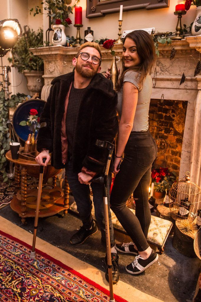 Paddy Smyth & Sinead Haugh at the exclusive launch of Hendrick's 'The Illustrious Manor of Eminence' at Tailor's Hall, Back Lane, Dublin 8. Photo: RuthlessImagery