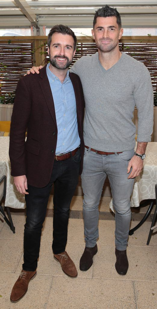 Richard Molloy and Rob Kearney pictured at the exclusive Audi Christmas Luncheon on Suesey Street Restaurant, Dublin. Photo: Brian McEvoy