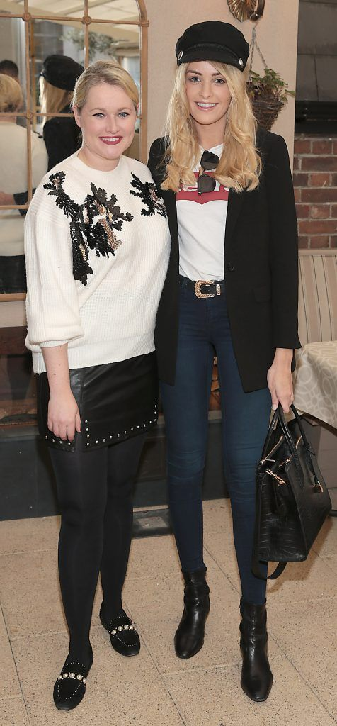Lorna Weightman and Louise Cooney pictured at the exclusive Audi Christmas Luncheon on Suesey Street Restaurant, Dublin. Photo: Brian McEvoy