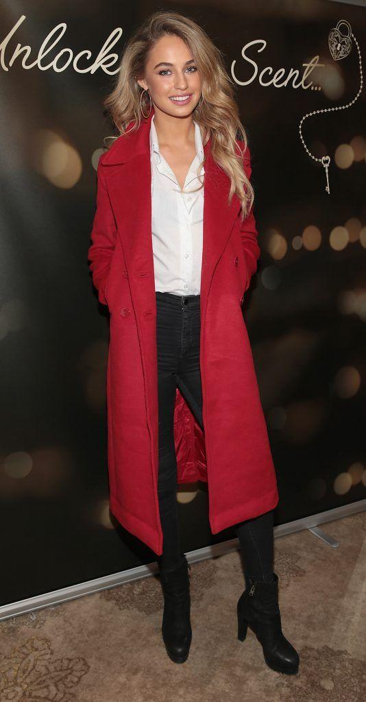 Thalia Heffernan at the launch of Suzanne Jackson's SOSU by SJ fragrance at the Shelbourne Hotel, Dublin. Photo: Brian McEvoy