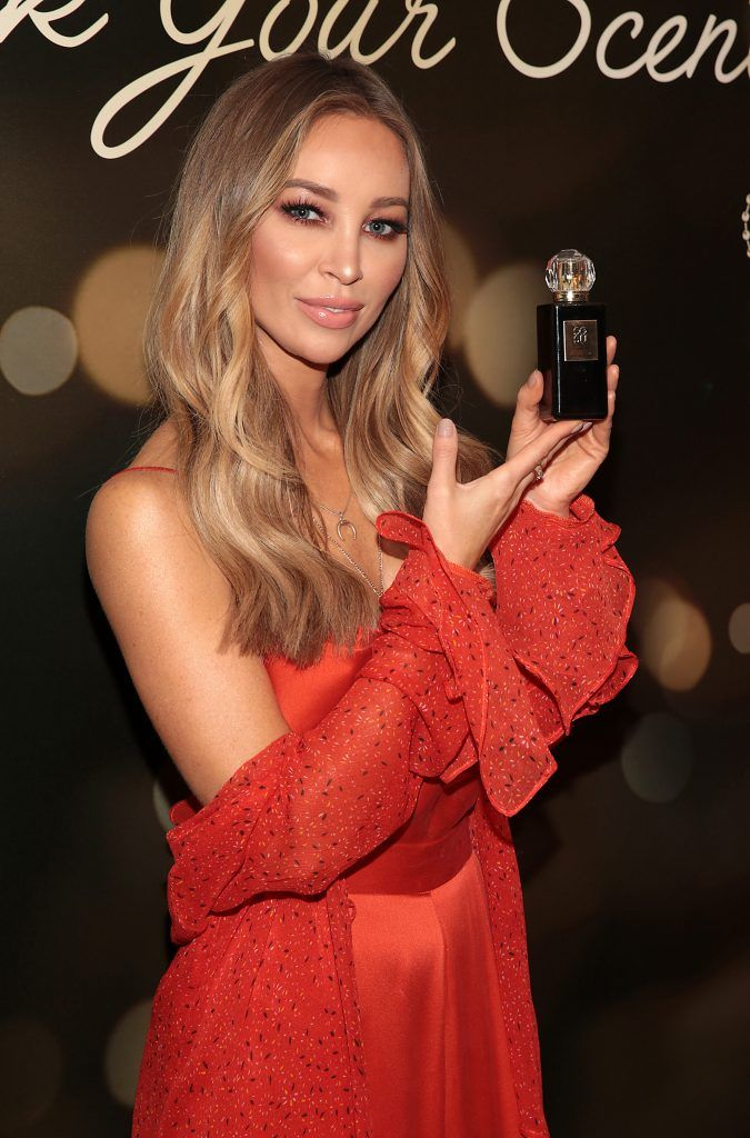 Lauren Pope at the launch of Suzanne Jackson's SOSU by SJ fragrance at the Shelbourne Hotel, Dublin. Photo: Brian McEvoy