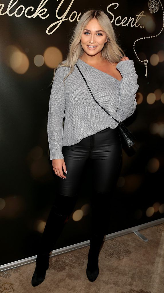 Sarah Ashcroft at the launch of Suzanne Jackson's SOSU by SJ fragrance at the Shelbourne Hotel, Dublin. Photo: Brian McEvoy