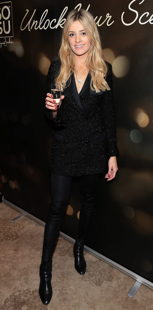 Louise Cooney at the launch of Suzanne Jackson's SOSU by SJ fragrance at the Shelbourne Hotel, Dublin. Photo: Brian McEvoy