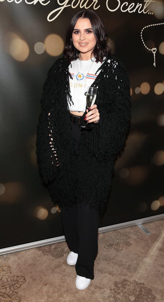 Eadaoin Murphy at the launch of Suzanne Jackson's SOSU by SJ fragrance at the Shelbourne Hotel, Dublin. Photo: Brian McEvoy