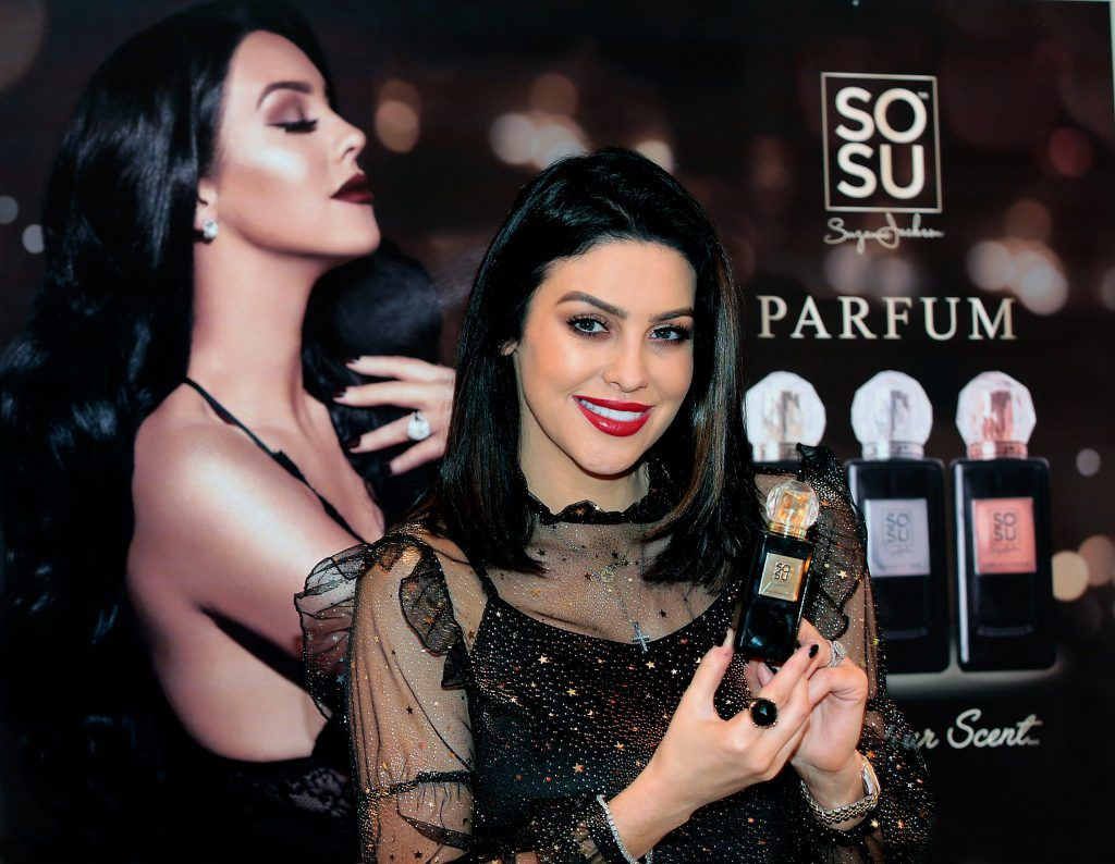 Suzanne Jackson at the launch of her SOSU by SJ fragrance at the Shelbourne Hotel, Dublin. Photo: Brian McEvoy