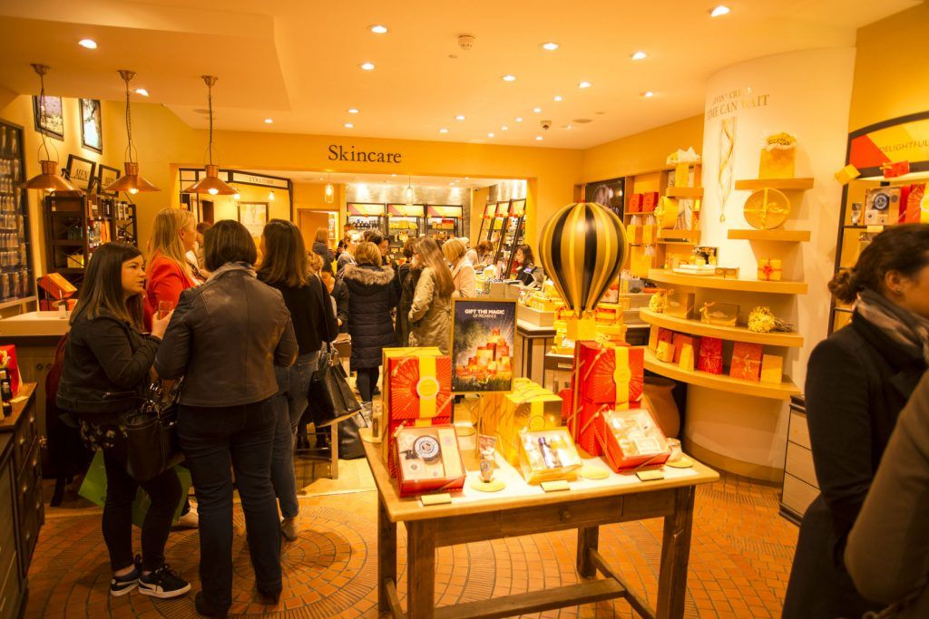 Pictured at the L'Occitane Christmas Readers event where guests got to browse L'Occitane Christmas treats early. Photo: Daragh McDonagh