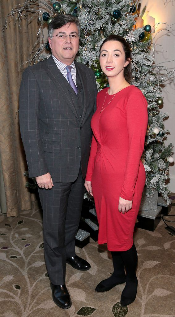 Peter Kenny and Hannah Gallard at the World Vision Women mean Business event at the Intercontinental Hotel in Ballsbridge, Dublin. Picture: Brian McEvoy