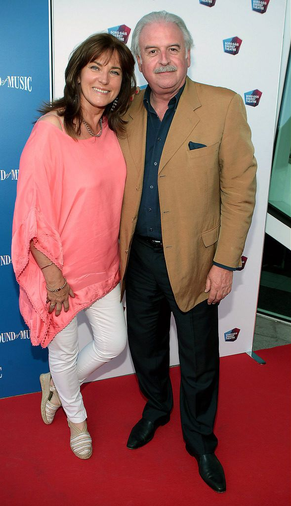 Maria Whelan and Marty Whelan at the  opening night of The Sound of Music at The Bord Gais.Energy Theatre Dublin...Pictures:Brian McEvoy.