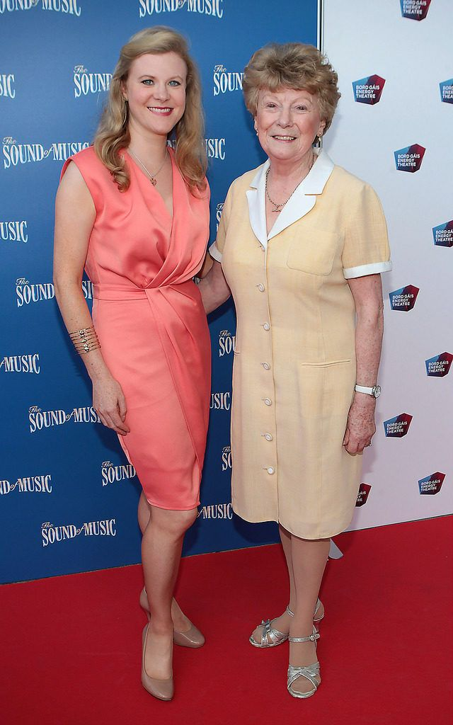 Nuala Carey and mother Anne Carey at the  opening night of The Sound of Music at The Bord Gais Energy Theatre Dublin..Pictures:Brian McEvoy.