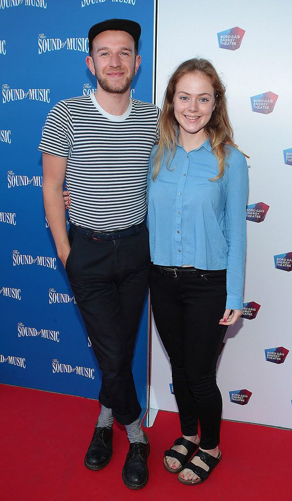 Ryan McConnell and Zoe Ledwith at the  opening night of The Sound of Music at The Bord Gais Energy Theatre Dublin..Pictures:Brian McEvoy