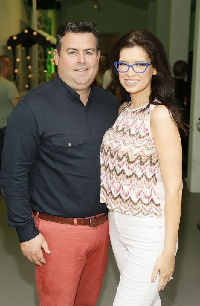 Darragh and Lorraine O'Sullivan at the Irish Spectacle Wearer of the Year competition hosted by Specsavers and held in the RHA-photo Kieran Harnett
