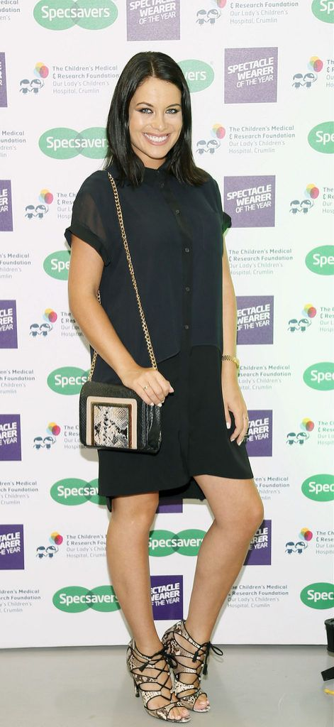 Michelle McGrath at the Irish Spectacle Wearer of the Year competition hosted by Specsavers and held in the RHA-photo Kieran Harnett