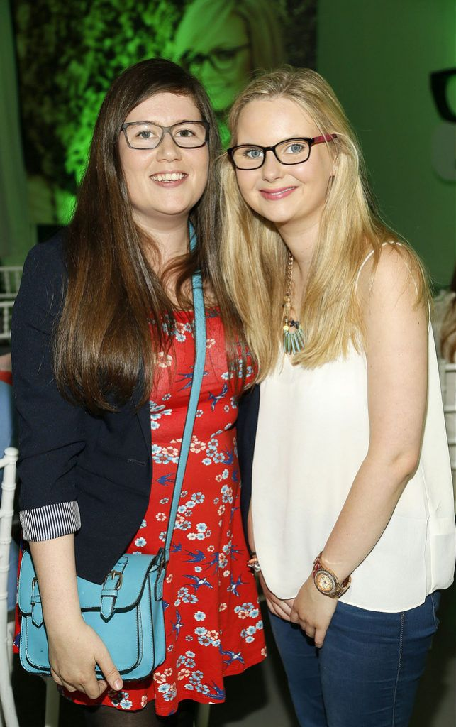 Gail Murphy and Lauren Curtis at the Irish Spectacle Wearer of the Year competition hosted by Specsavers and held in the RHA-photo Kieran Harnett