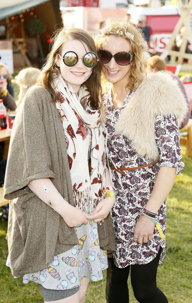 Jade Smith and Emma Beglin at the JUST EAT Retreat at Electric Picnic -photo Kieran Harnett