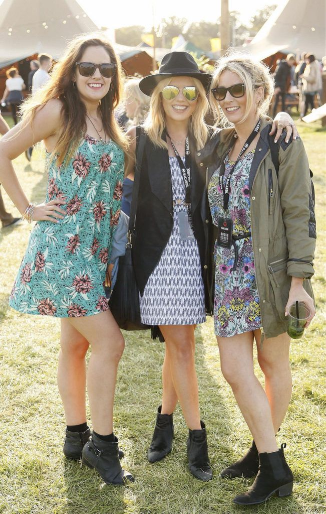 Martina Murray with Alison and Laura Hennessy at the JUST EAT Retreat at Electric Picnic -photo Kieran Harnett