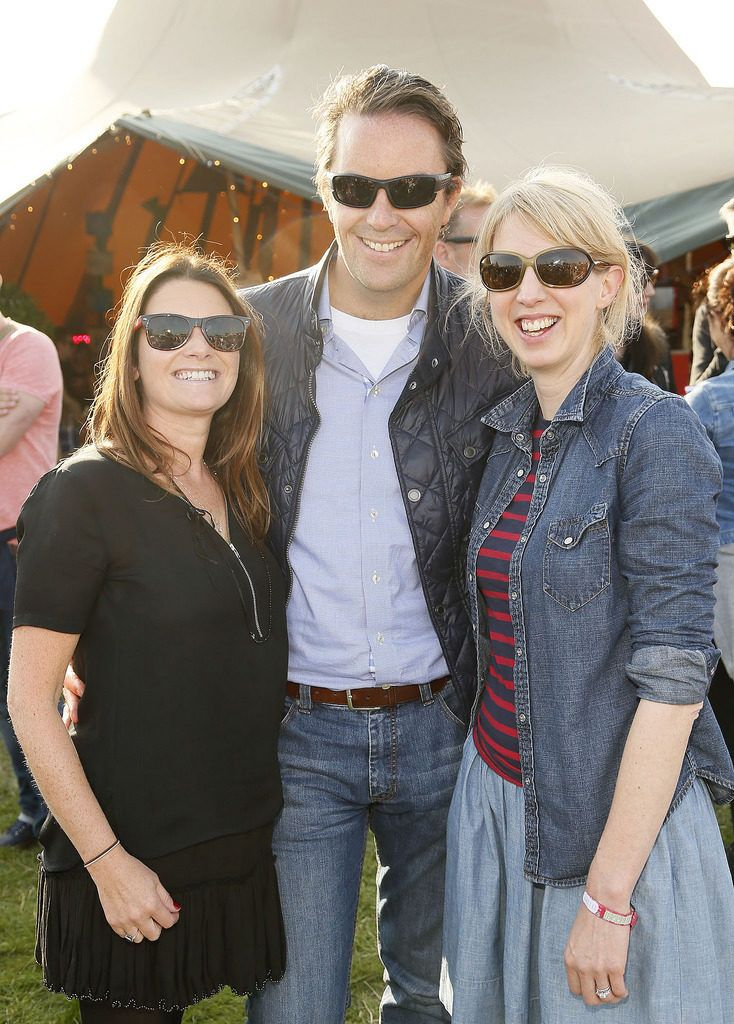 Elaine and Jim Byrne with Dee Daly at the JUST EAT Retreat at Electric Picnic -photo Kieran Harnett