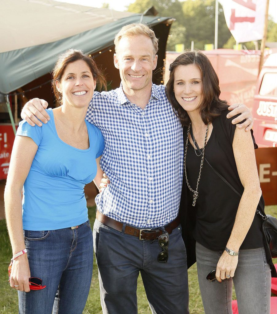 Amanda Roche Kelly with Chris and Aoife Matthews at the JUST EAT Retreat at Electric Picnic -photo Kieran Harnett