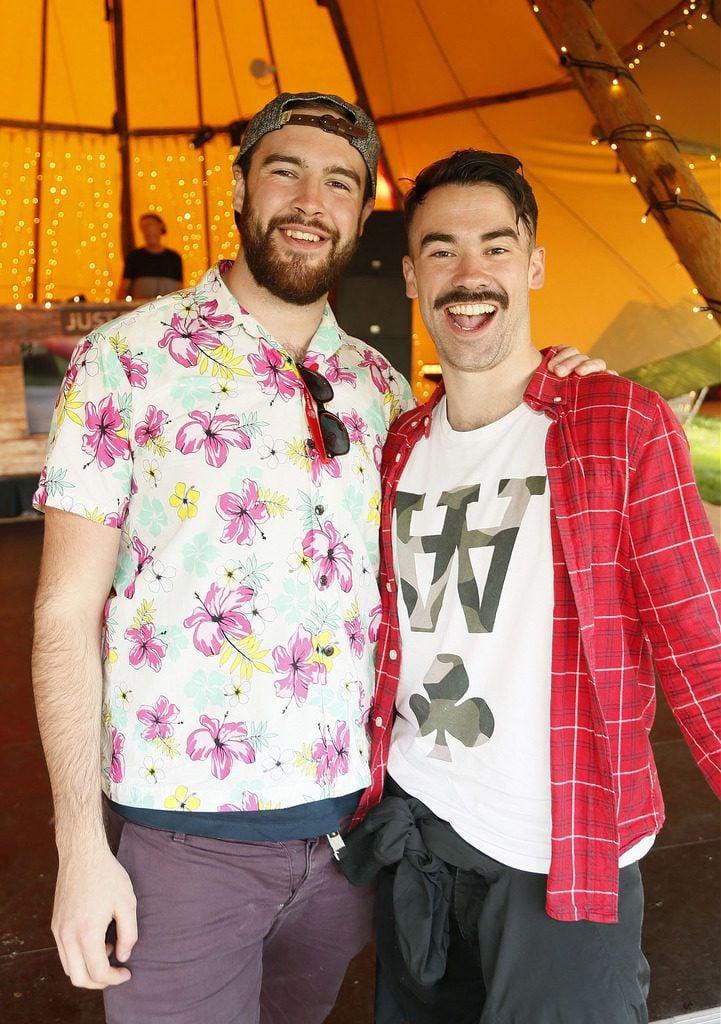 Julian Good and Ray Quigley at the JUST EAT Retreat at Electric Picnic -photo Kieran Harnett