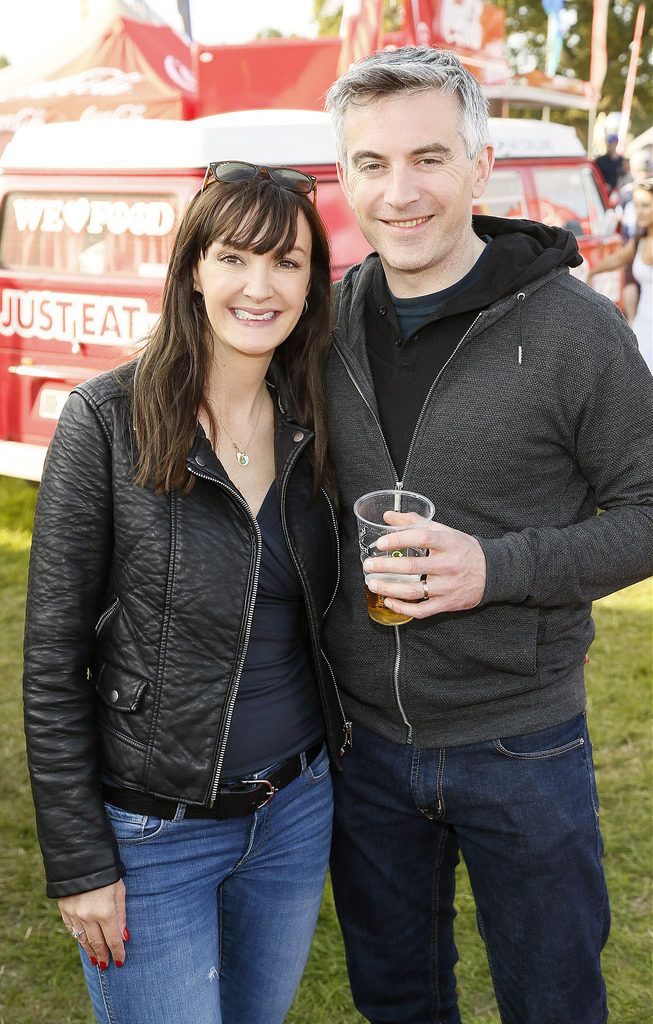 Clodagh O'Connell and Gavin Barrett at the JUST EAT Retreat at Electric Picnic -photo Kieran Harnett