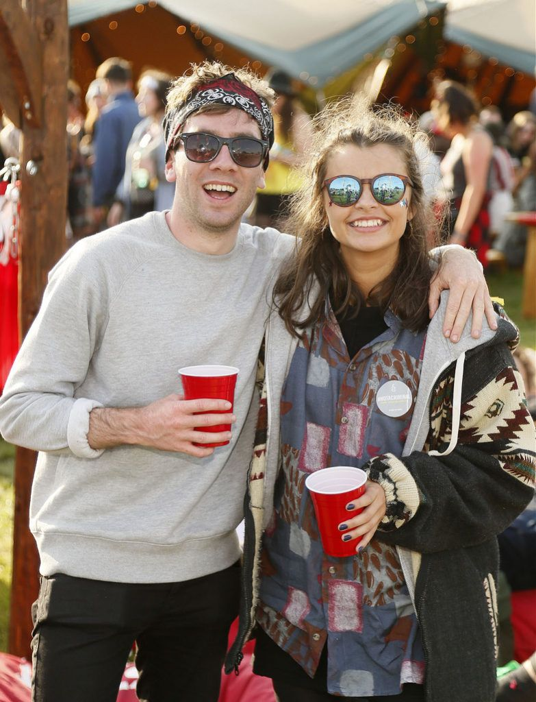 Andrew Creagh and Niamh McCrory at the JUST EAT Retreat at Electric Picnic -photo Kieran Harnett